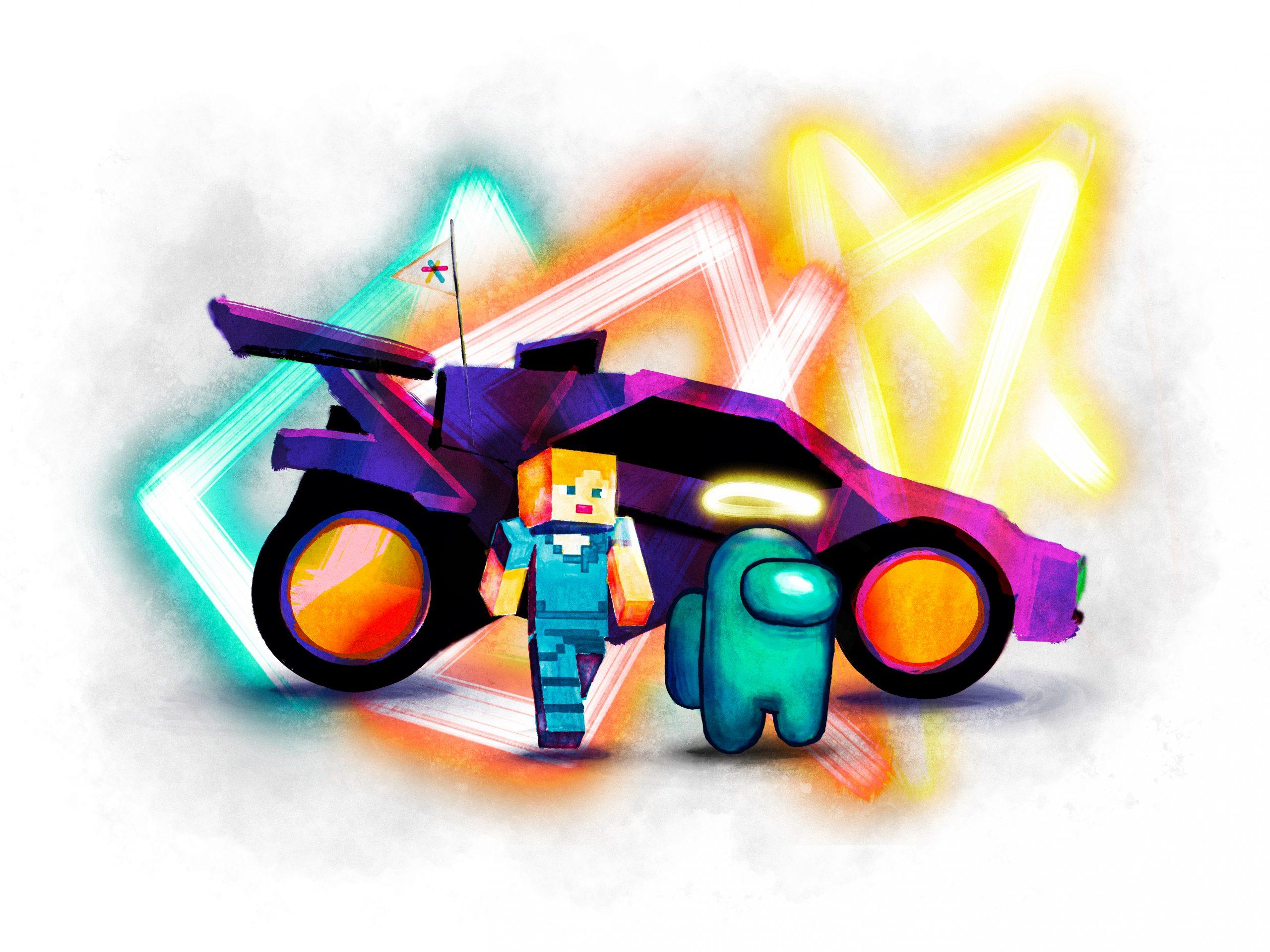Visual des Projektes ''Gaming und Jugendaustausch''