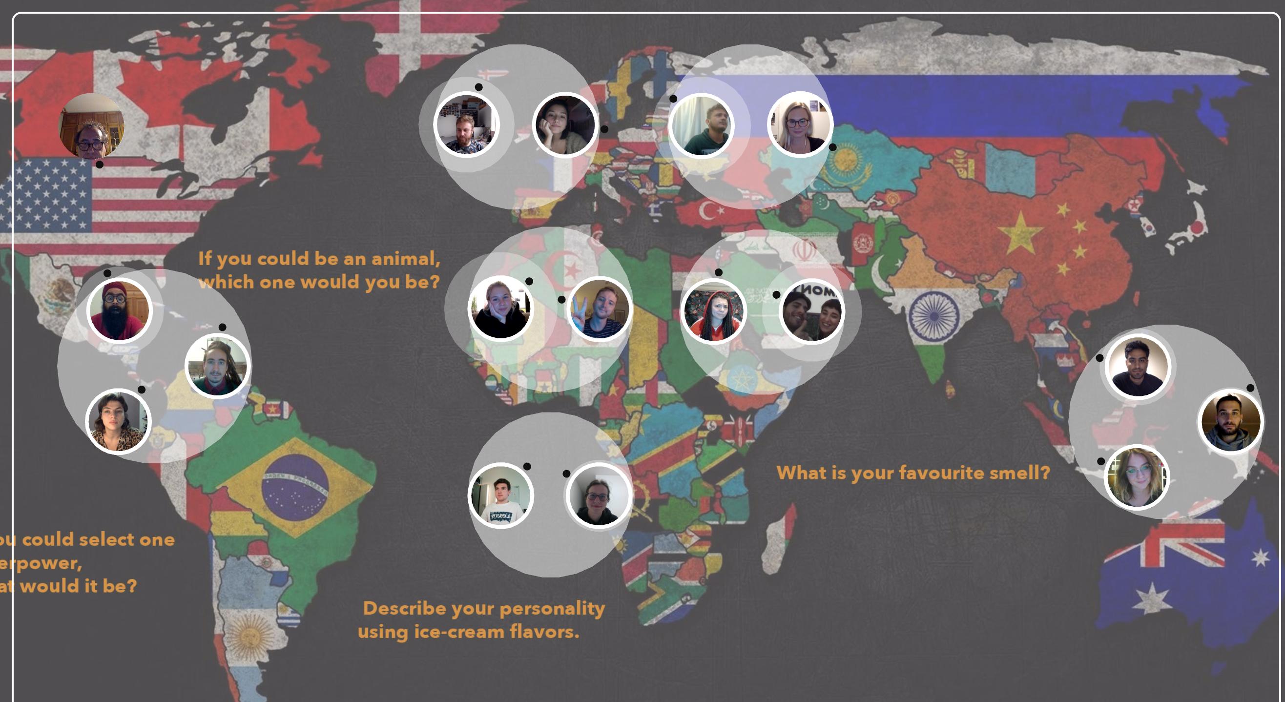 Screenshot einer Weltkarte aus dem Projekt ''Get Your own Picture''
